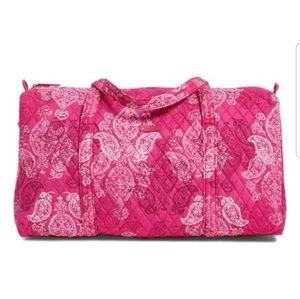 Vera Bradley Large Duffle bag NEW pink paisley